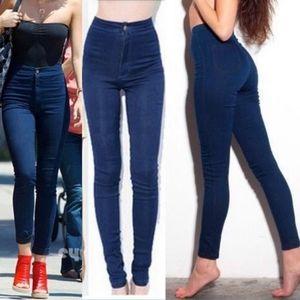 American Apparel High Rise Easy Jeans Darkwash